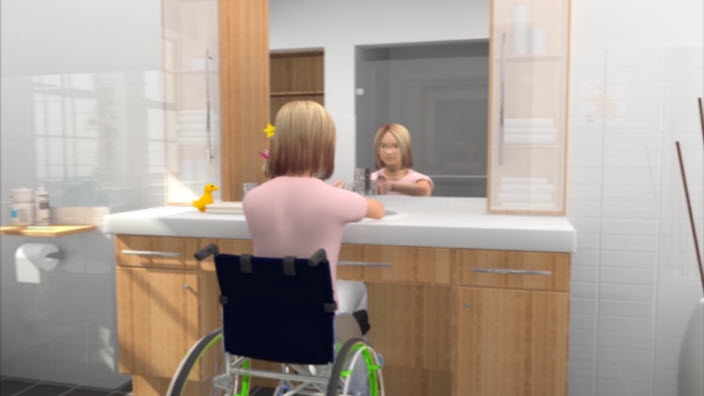 Meninas cadeirantes